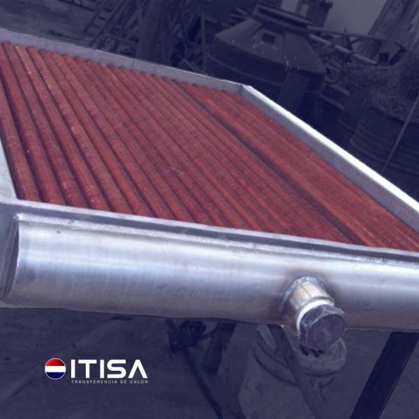 Radiador de acero inoxidable con aleta de cobre 1