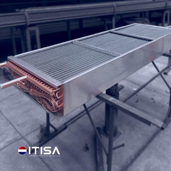 evaporador de cobre aleta de aumino